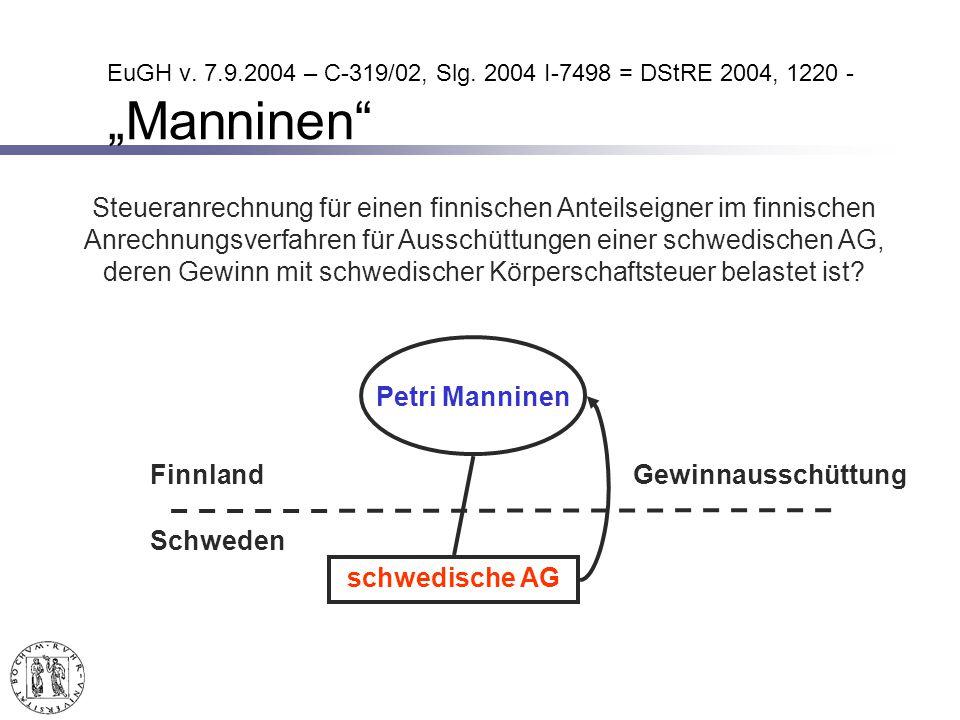 EuGH v.7.9.2004 – C-319/02, Slg.