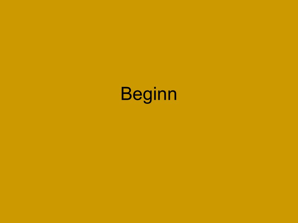 Beginn