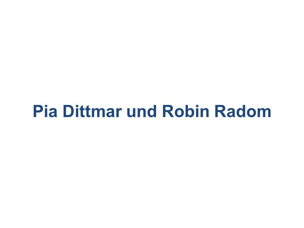 Pia Dittmar und Robin Radom