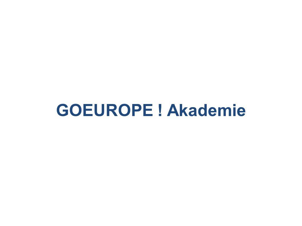 GOEUROPE ! Akademie