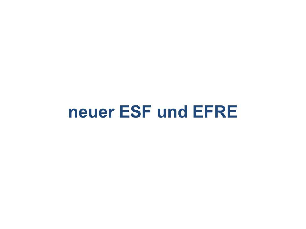 neuer ESF und EFRE