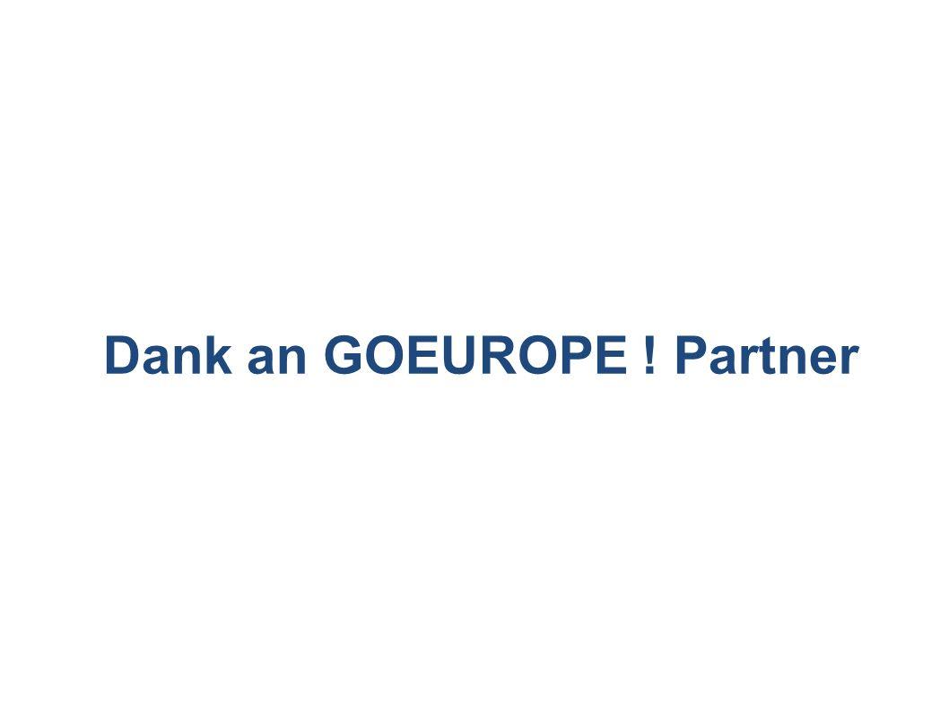 Dank an GOEUROPE ! Partner