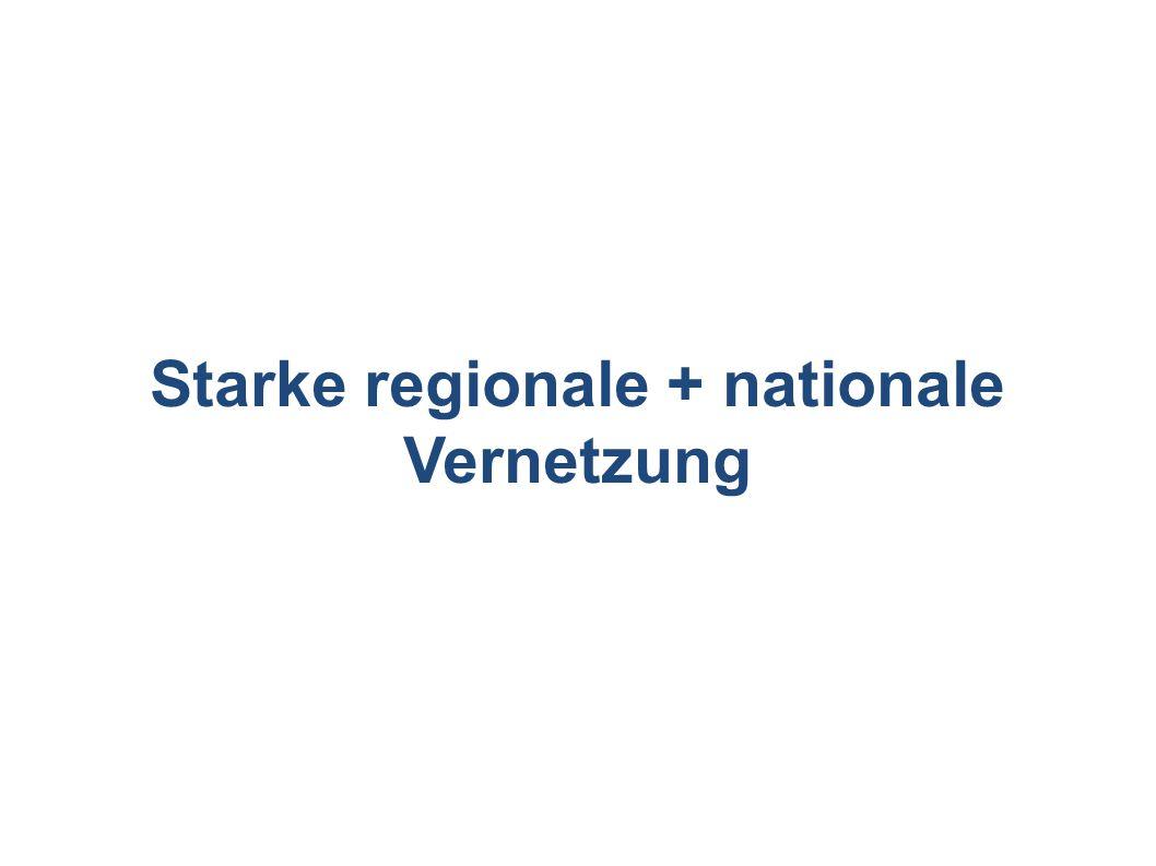 Starke regionale + nationale Vernetzung