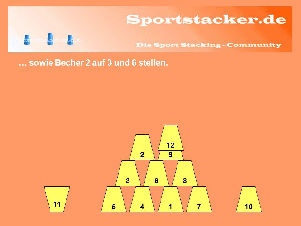 … sowie Becher 2 auf 3 und 6 stellen. 45 63 2 17 8 9 12 10 11