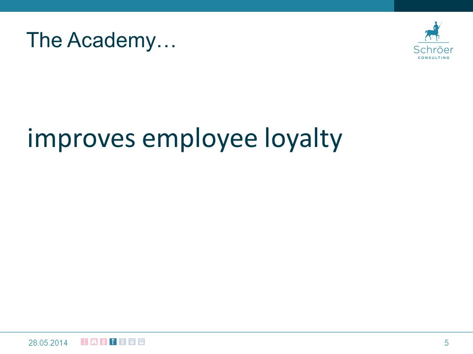 improves employee loyalty 528.05.2014 The Academy…