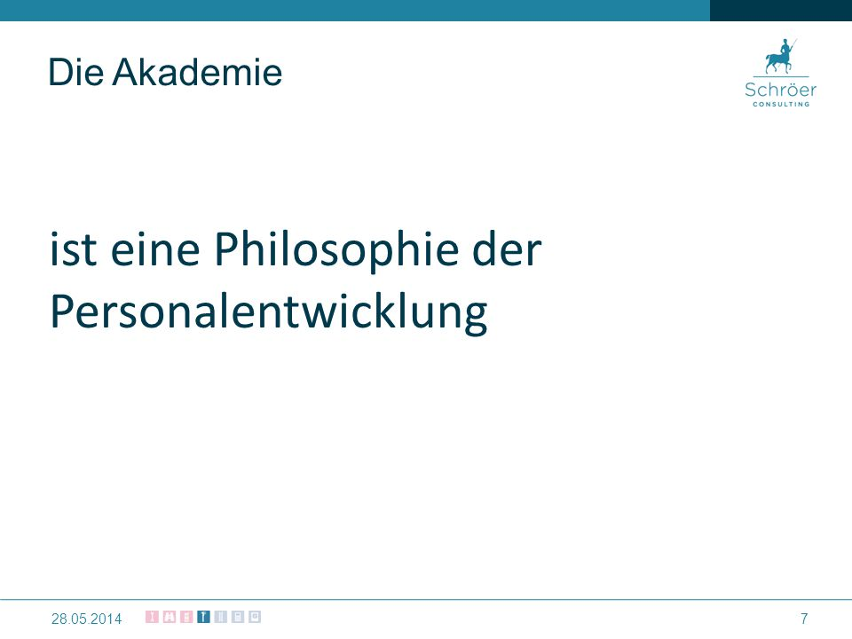 Die Akademie ist eine Philosophie der Personalentwicklung 728.05.2014