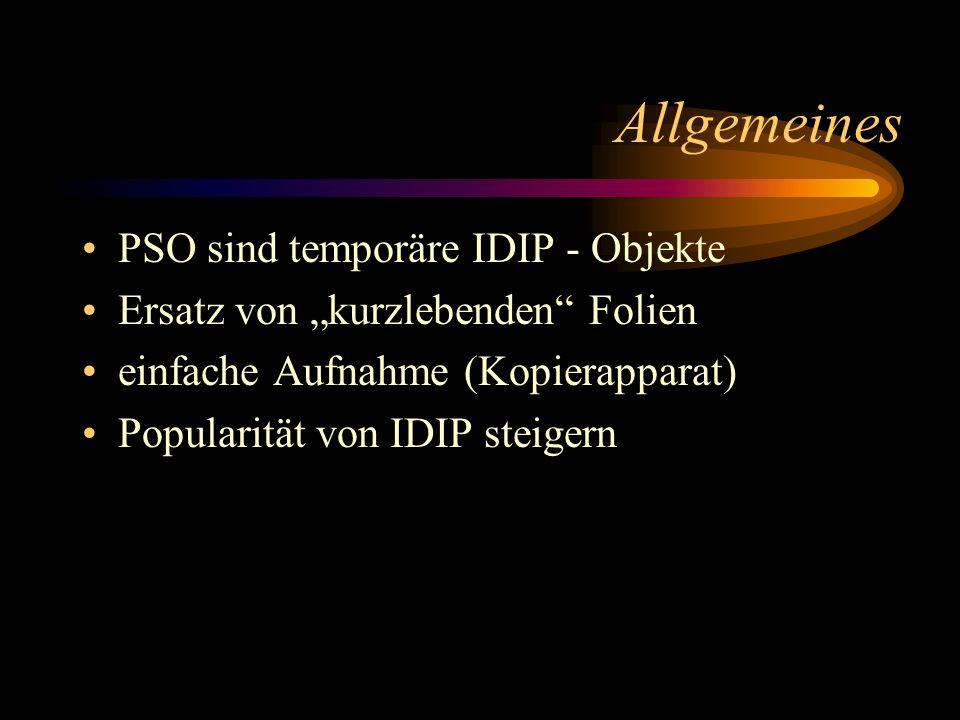 Hauptziel des Projekts Jeder.Soll in kürzester Zeit ein temporäres IDIP - Objekt erstellen können.