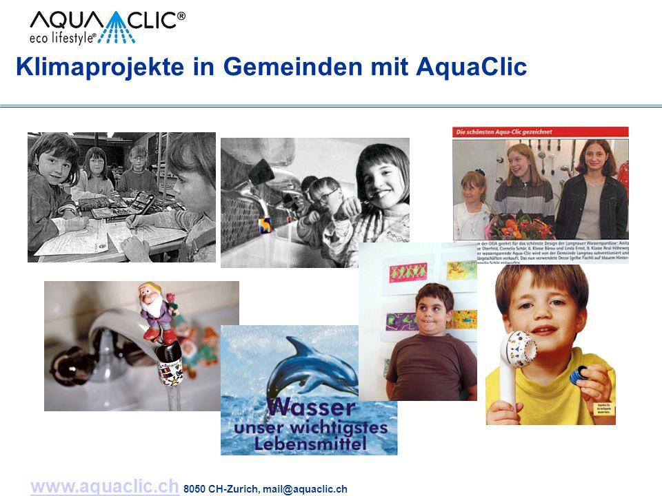 www.aquaclic.chwww.aquaclic.ch 8050 CH-Zurich, mail@aquaclic.ch Klimaprojekte in Gemeinden mit AquaClic