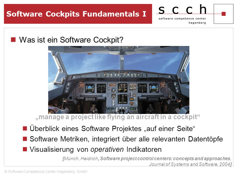 Was ist ein Software Cockpit.