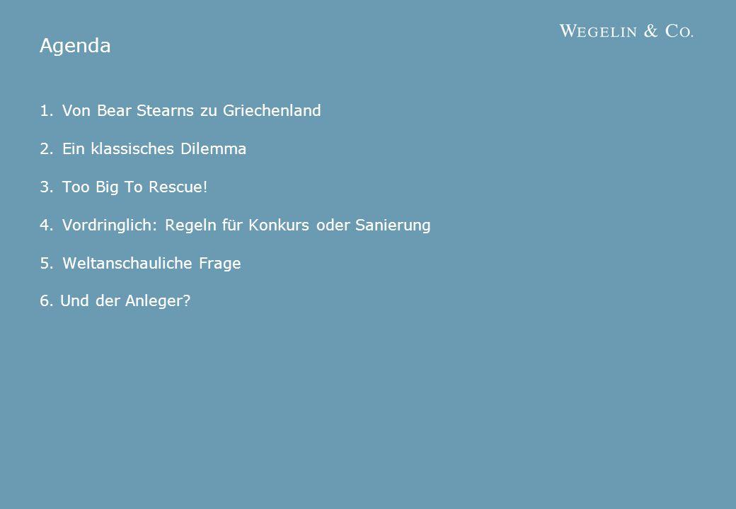 2 | 132 | 152 | 142 | 17 Agenda 1.Von Bear Stearns zu Griechenland 2.Ein klassisches Dilemma 3.Too Big To Rescue.