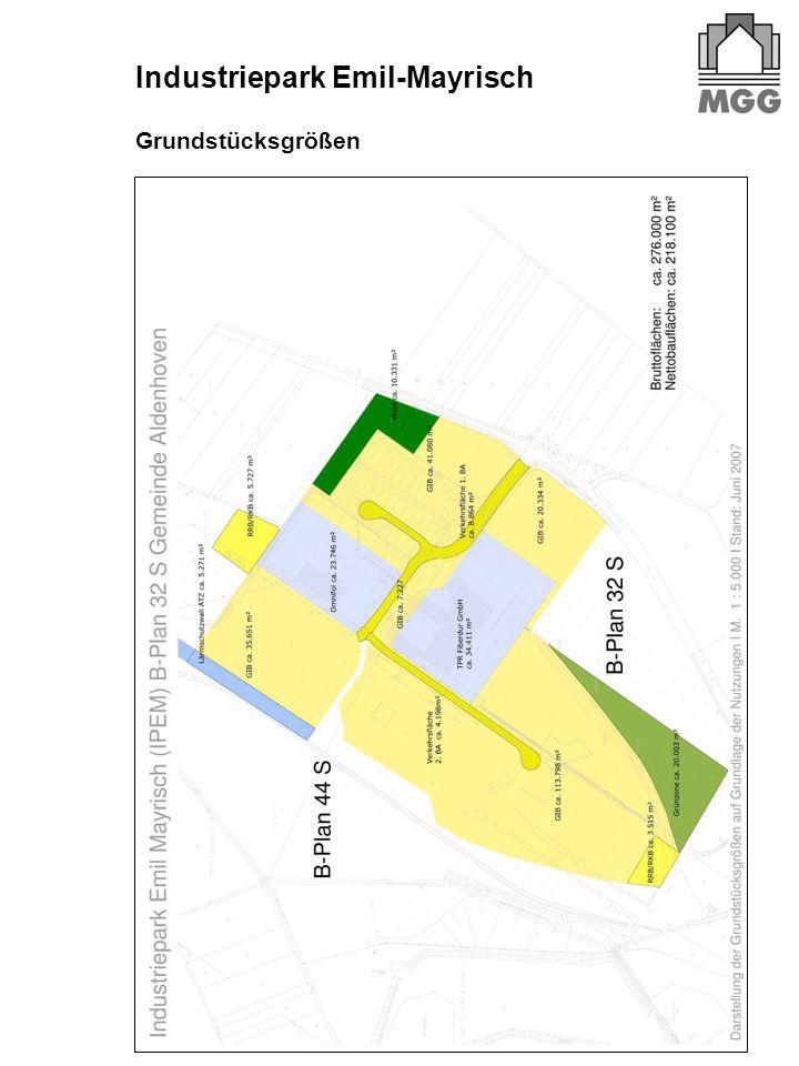 Grundstücksgrößen Industriepark Emil-Mayrisch