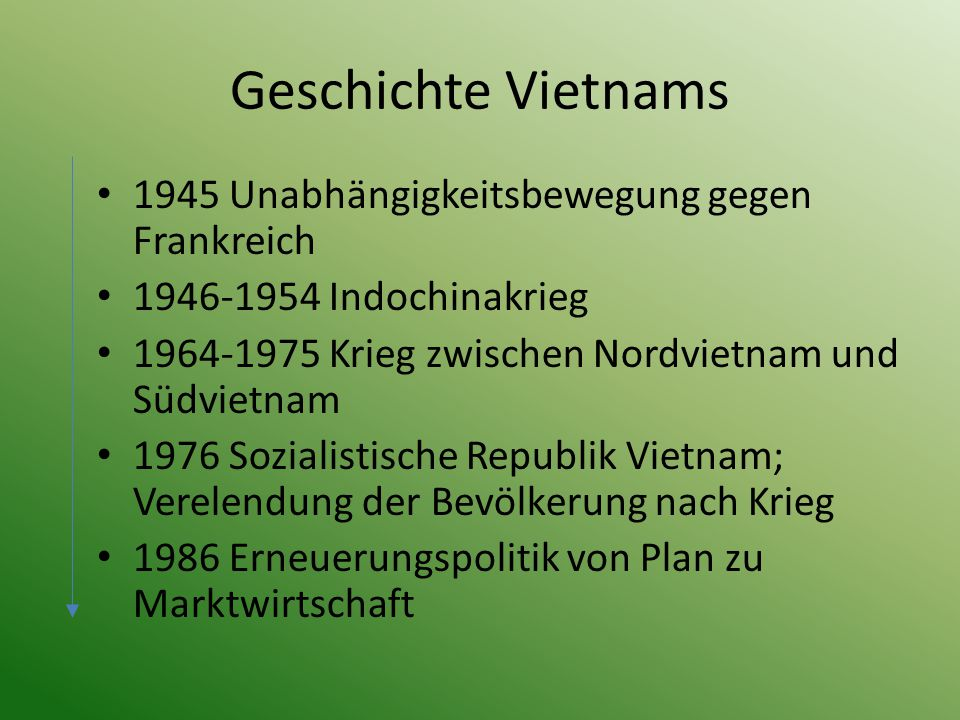 Klima Große klimatische Unterschiede zwischen Nord- und Südvietnam Nordvietnam: Gemäßigtes, tropisches Wechselklima Südvietnam: Warmes bis heißes tropisches Klima