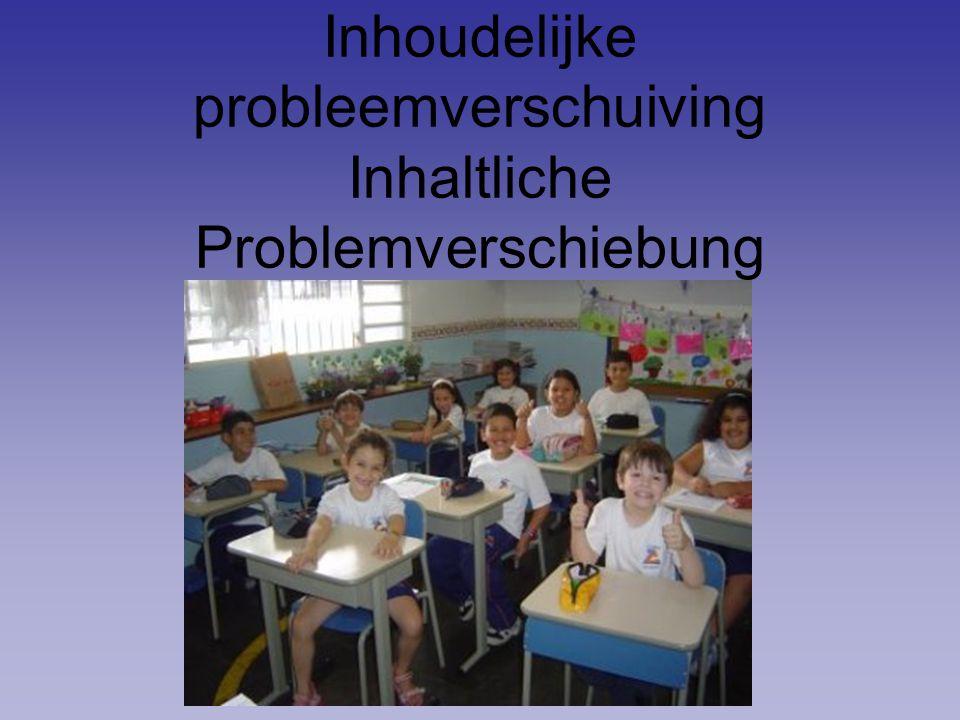 Inhoudelijke probleemverschuiving Inhaltliche Problemverschiebung