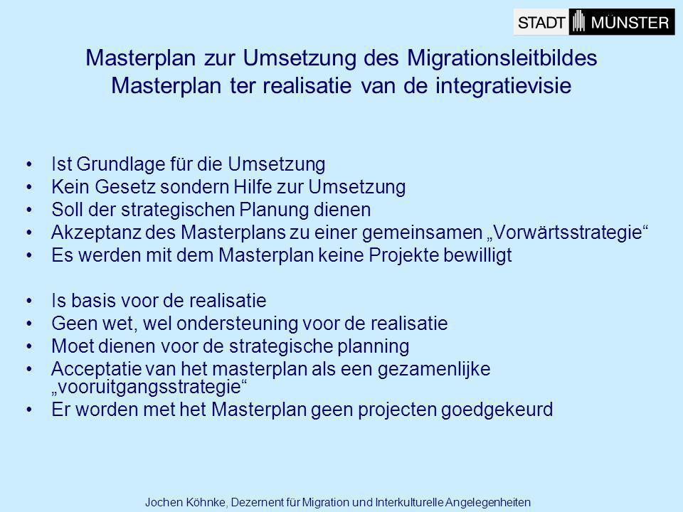 Ist Grundlage für die Umsetzung Kein Gesetz sondern Hilfe zur Umsetzung Soll der strategischen Planung dienen Akzeptanz des Masterplans zu einer gemei