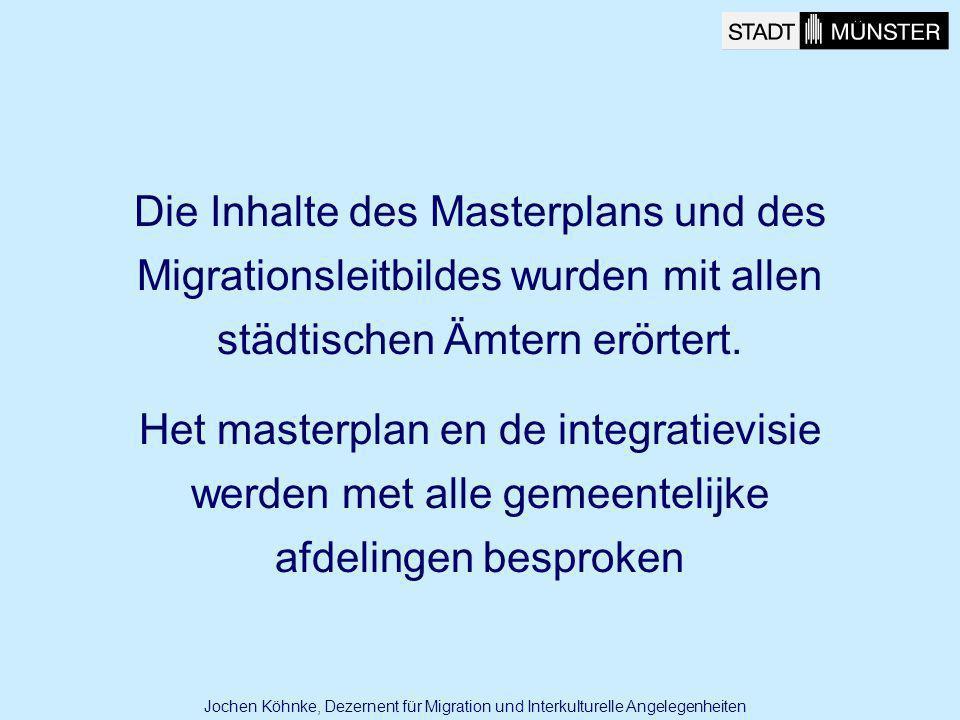 Die Inhalte des Masterplans und des Migrationsleitbildes wurden mit allen städtischen Ämtern erörtert. Het masterplan en de integratievisie werden met