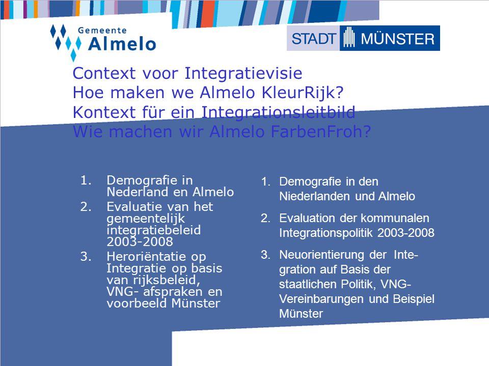 Context voor Integratievisie Hoe maken we Almelo KleurRijk.