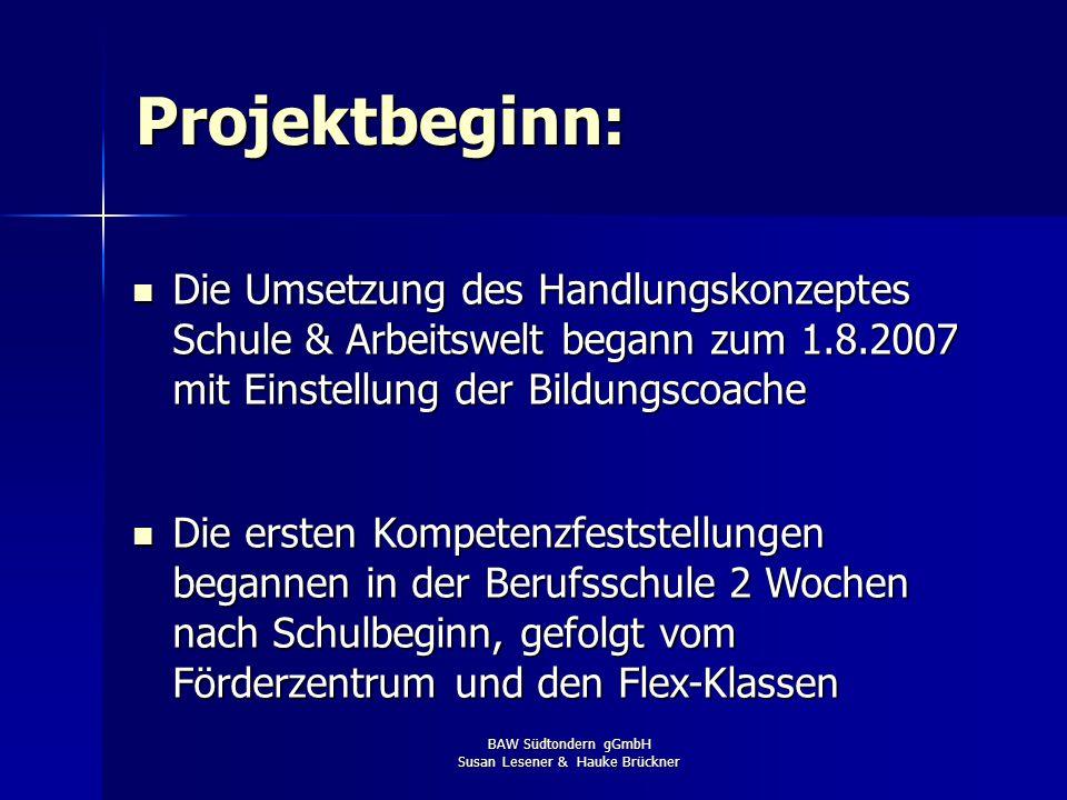 BAW Südtondern gGmbH Susan Lesener & Hauke Brückner Die Umsetzung in Nordfriesland: Projektträger NF: Bildungs- und Arbeitswerkstatt Südtondern gGmbH