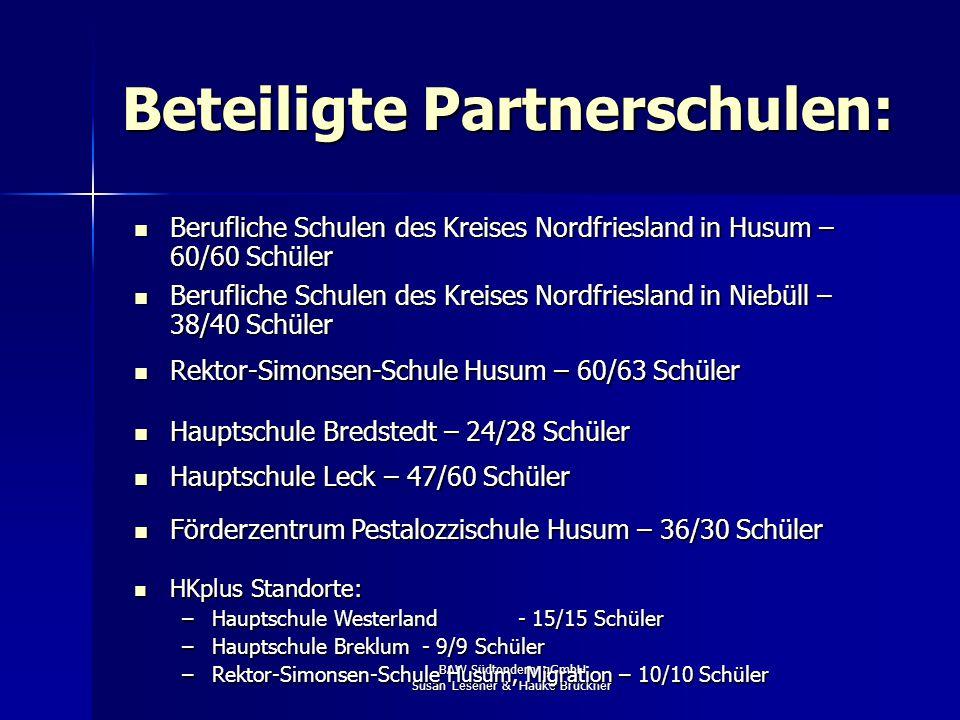 BAW Südtondern gGmbH Susan Lesener & Hauke Brückner … die nordfriesischen Partner