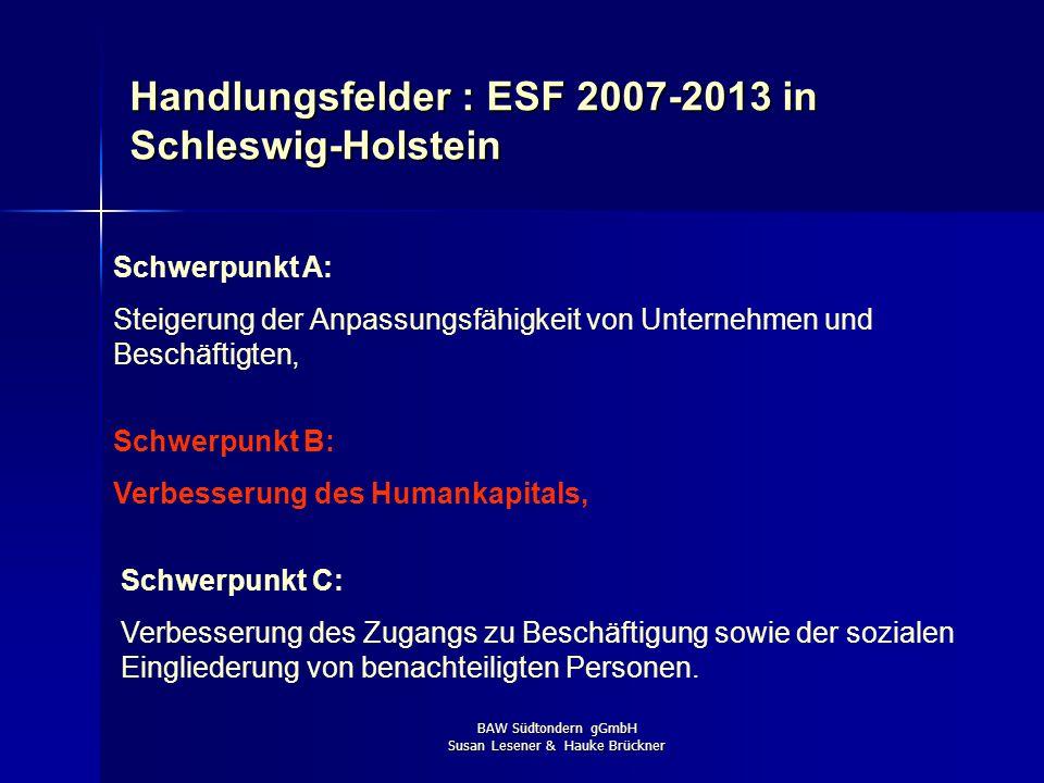 BAW Südtondern gGmbH Susan Lesener & Hauke Brückner Problemanalyse Der Anteil der Jugendlichen (U 25 / U 20 / U 15) am Gesamtbestand der Arbeitslosen
