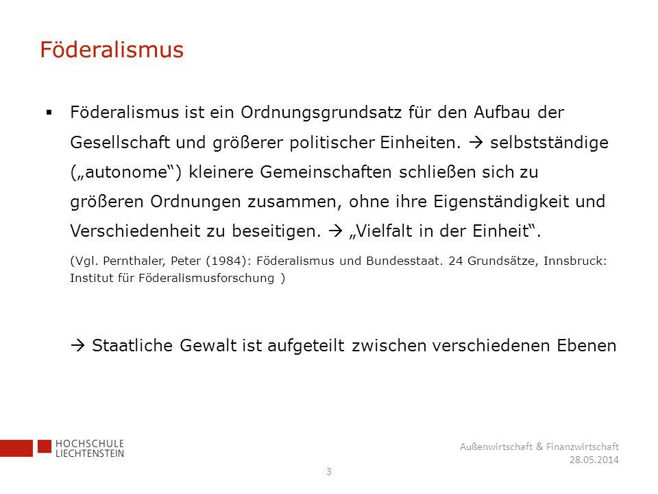 Föderalismus Föderalismus ist ein Ordnungsgrundsatz für den Aufbau der Gesellschaft und größerer politischer Einheiten. selbstständige (autonome) klei