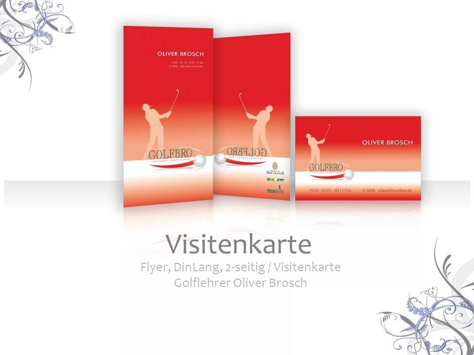 Flyer, DinLang, 2-seitig / Visitenkarte Golflehrer Oliver Brosch Visitenkarte