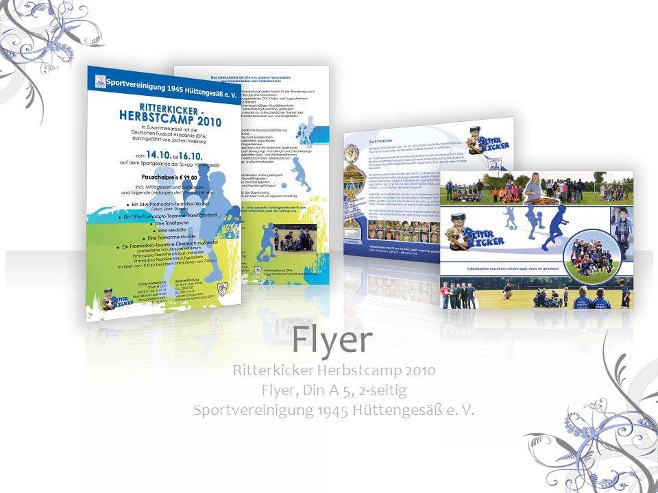 Ritterkicker Herbstcamp 2010 Flyer, Din A 5, 2-seitig Sportvereinigung 1945 Hüttengesäß e. V. Flyer