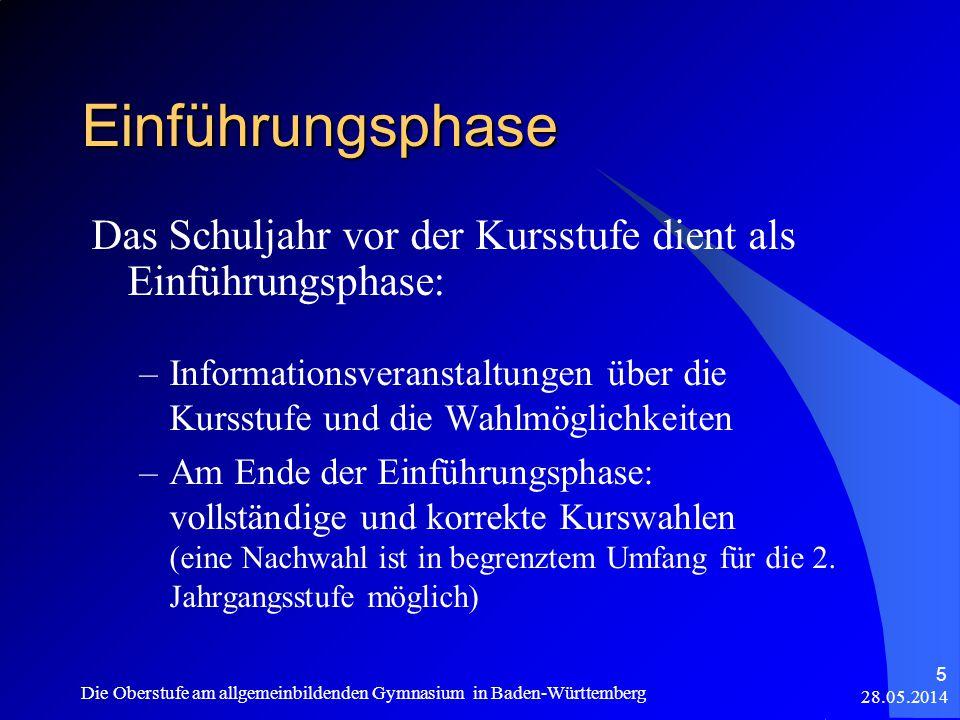 Zulassung zur schriftlichen Prüfung 28.05.2014 Die Oberstufe am allgemeinbildenden Gymnasium in Baden-Württemberg 36 Grundsatz: Es muss nach dem bisherigen Stand möglich sein, die allg.