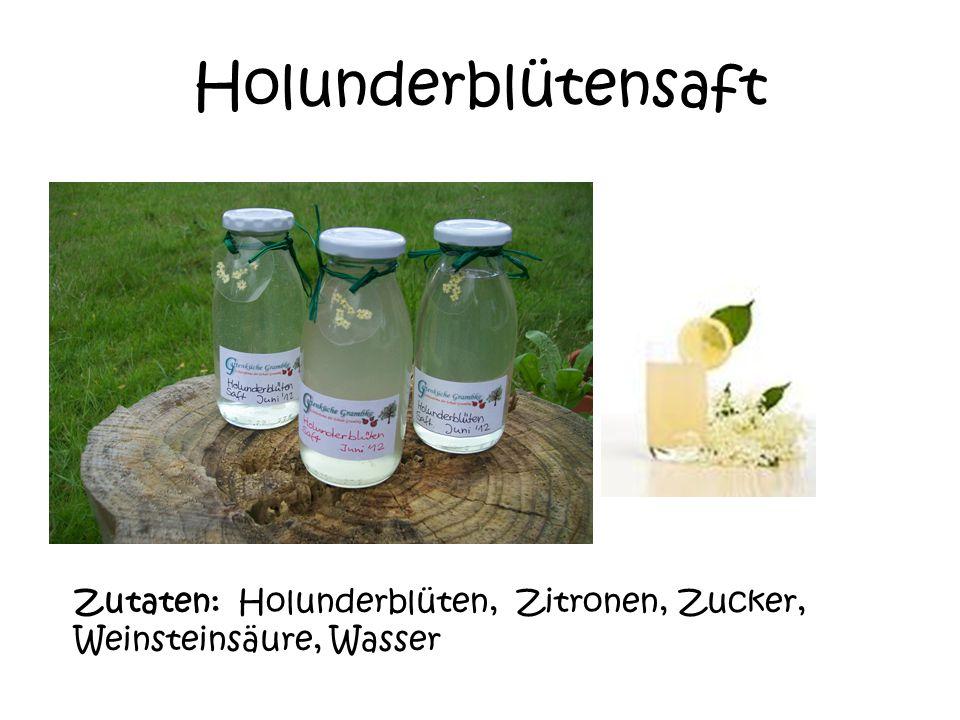 Fliederblütengelee Zutaten: Fliederblüten, Gelierzucker, Zitrone