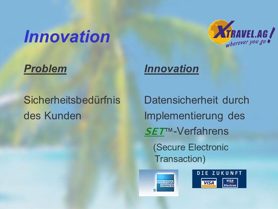 Innovation Problem Sicherheitsbedürfnis des Kunden