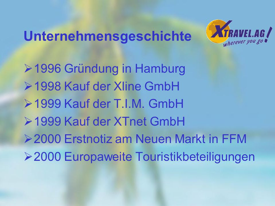 Reisen - zusammen mit Financial Services und Computer Soft/Hardware die interessantesten Business-to-Consumer Internet-Segmente Quelle: Morgan Stanley Dean Witter Travel Internet Geschäftspotential Online-Akzeptanz durch Consumer Insurance/Financial Services Computer Soft-/Hardware Books Magazines Collectibles Music/Video Automobiles Office Products Flowers/Gifts Tools/Home Repair Home Furnishings Cigars (it s a 90s thing …) Specialised Sporting Goods Consumer Electronics/Appliances Apparel Groceries/Food General Sporting Goods Toys