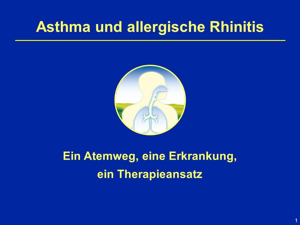 1 Asthma und allergische Rhinitis Ein Atemweg, eine Erkrankung, ein Therapieansatz