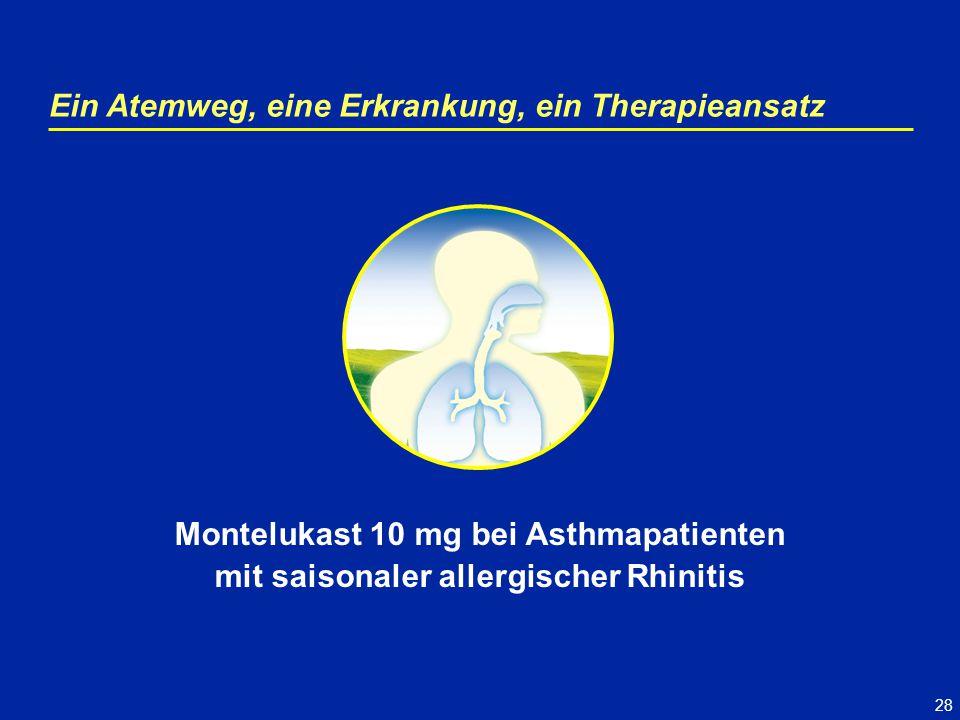 28 Ein Atemweg, eine Erkrankung, ein Therapieansatz Montelukast 10 mg bei Asthmapatienten mit saisonaler allergischer Rhinitis