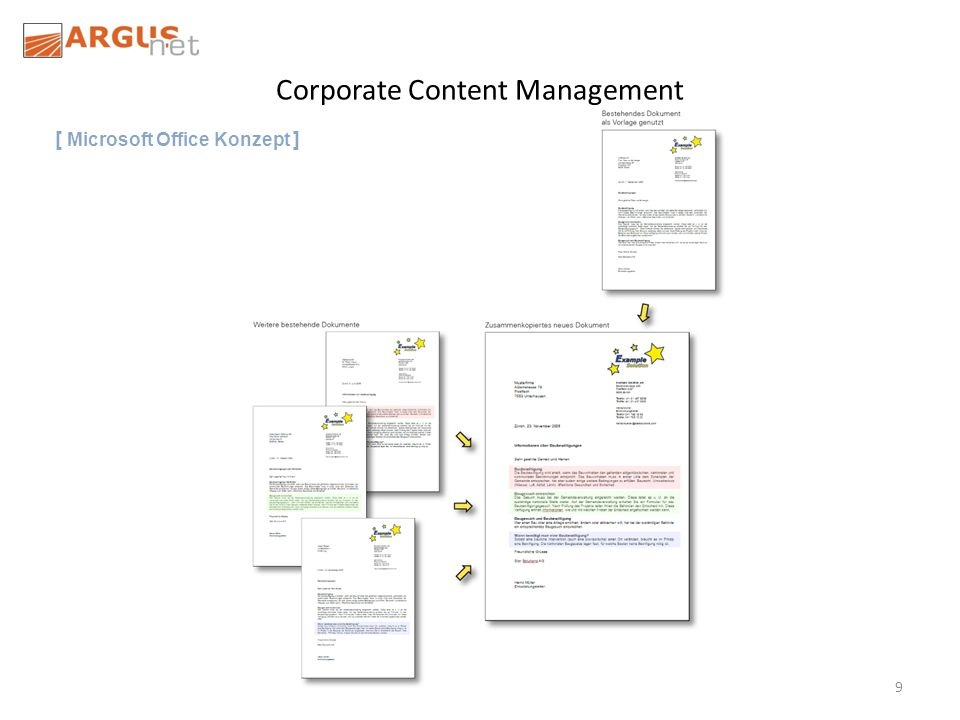 9 Corporate Content Management [ Microsoft Office Konzept ]