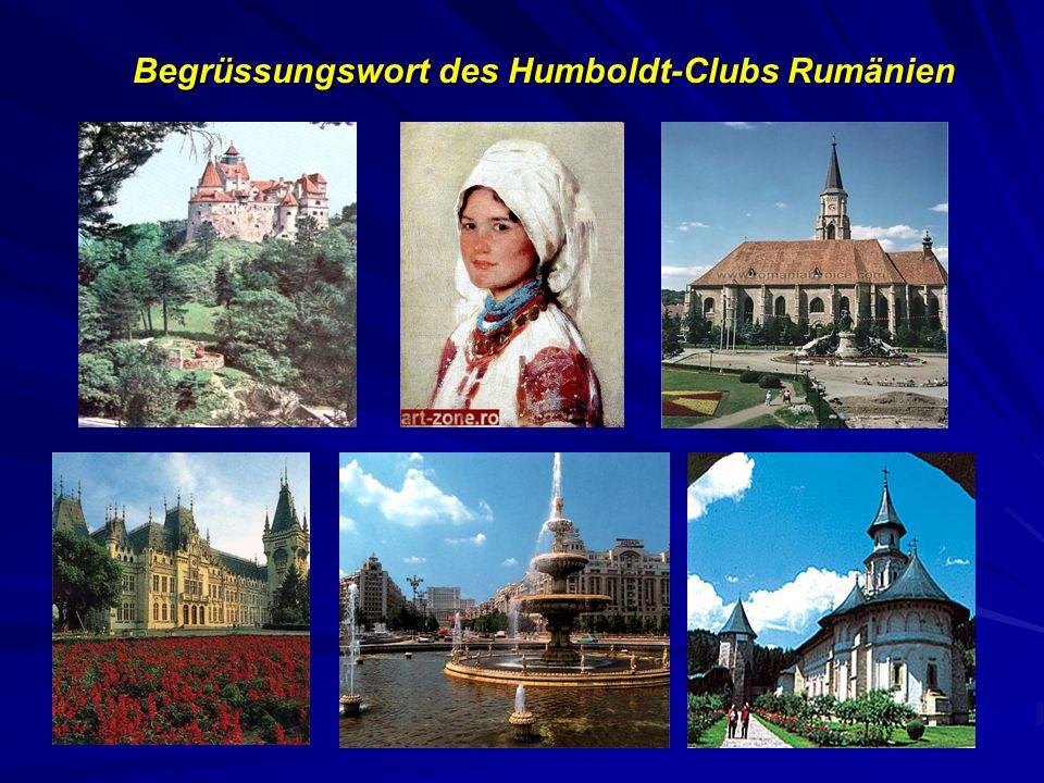 Begrüssungswort des Humboldt-Clubs Rumänien