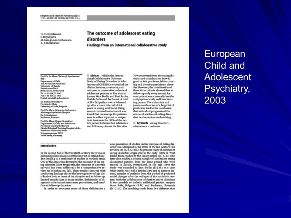 International Journal of Eating Disorders, 2008