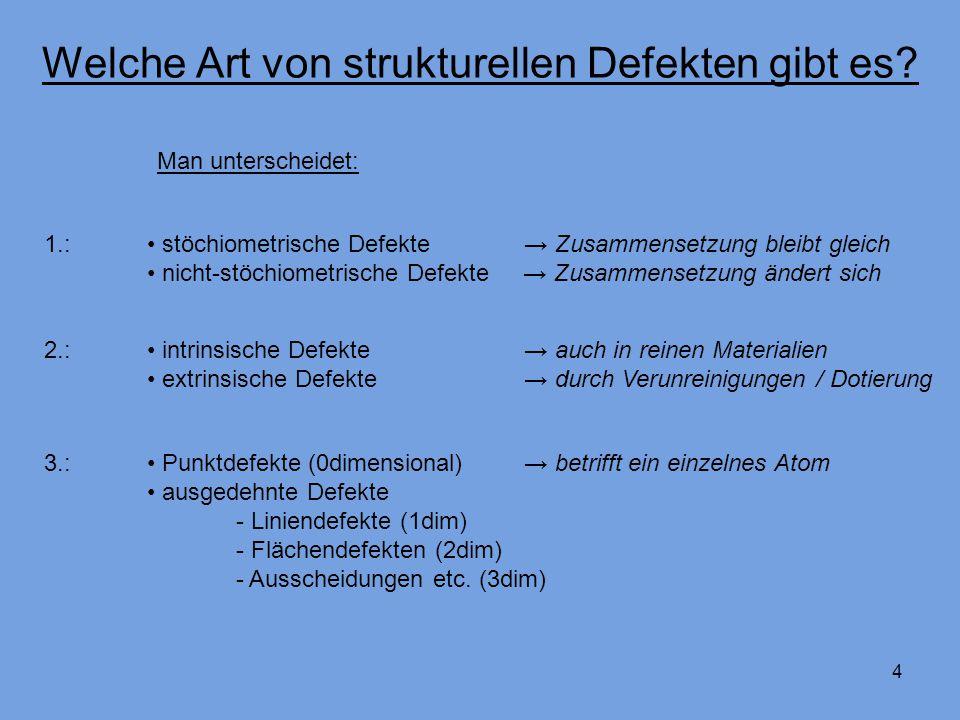 4 Welche Art von strukturellen Defekten gibt es.