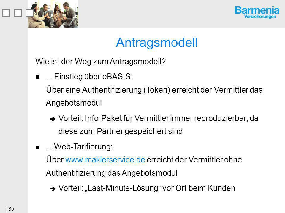 60 Antragsmodell Wie ist der Weg zum Antragsmodell.