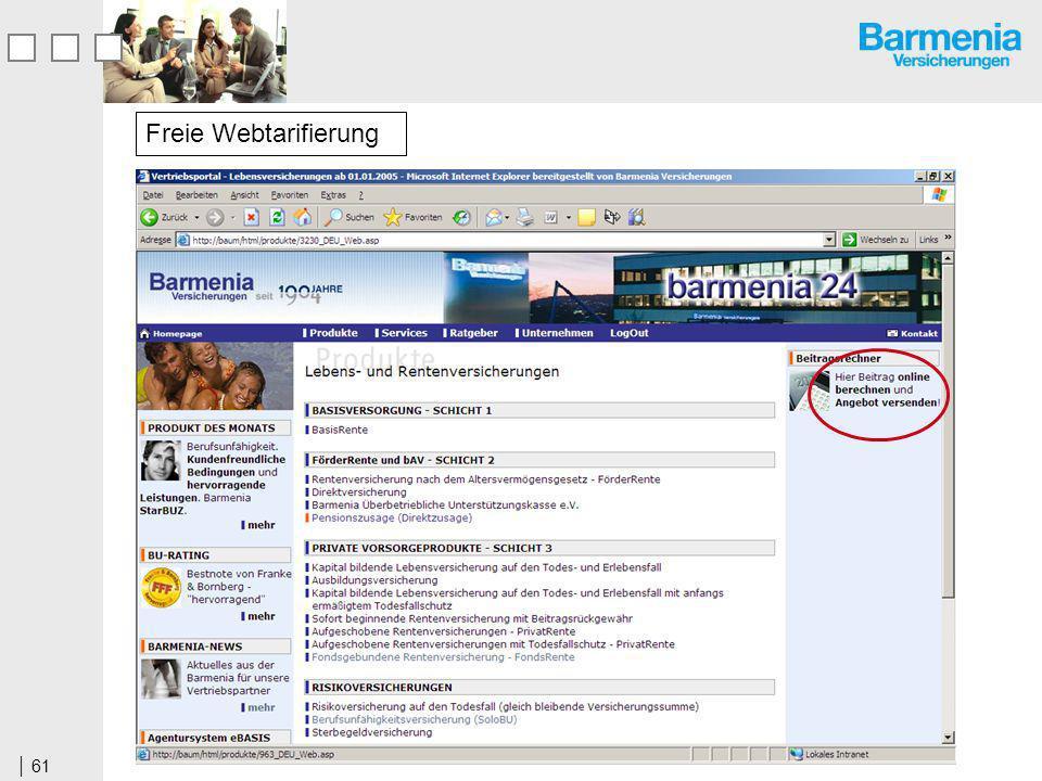 61 Freie Webtarifierung