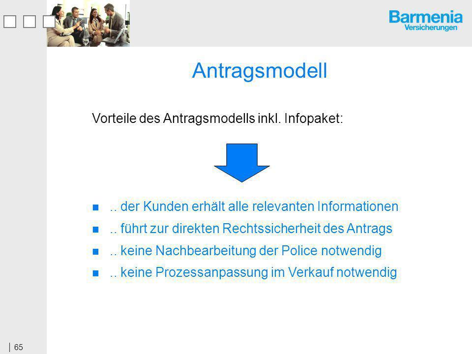 65 Antragsmodell Vorteile des Antragsmodells inkl.