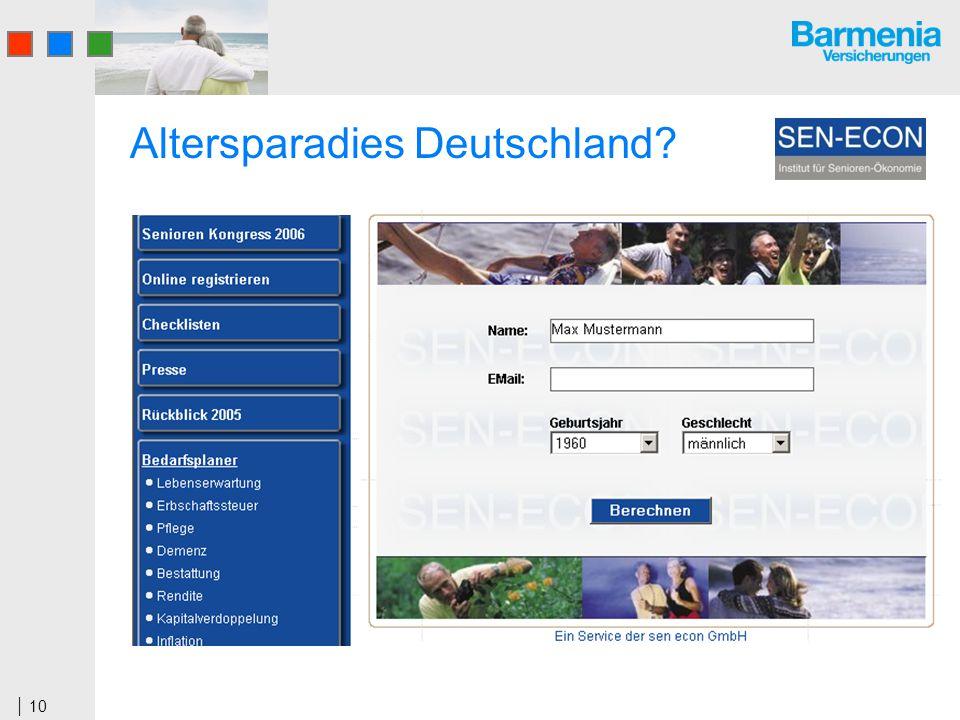 10 Altersparadies Deutschland?