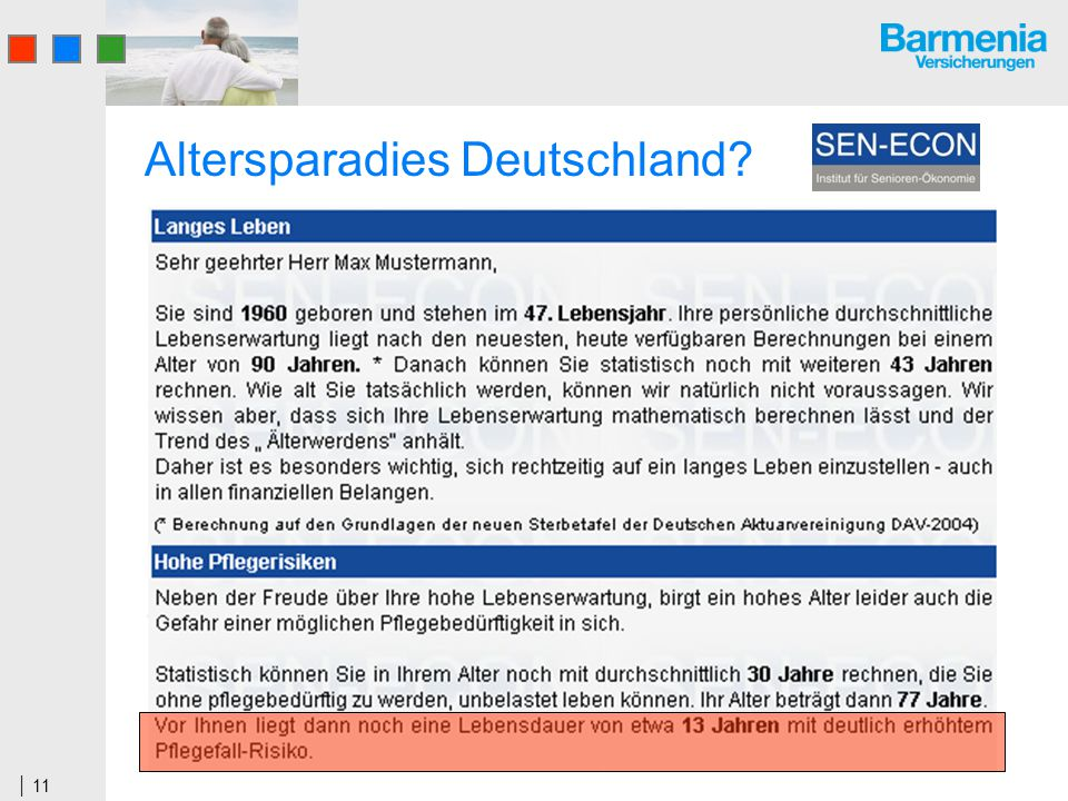 11 Altersparadies Deutschland?