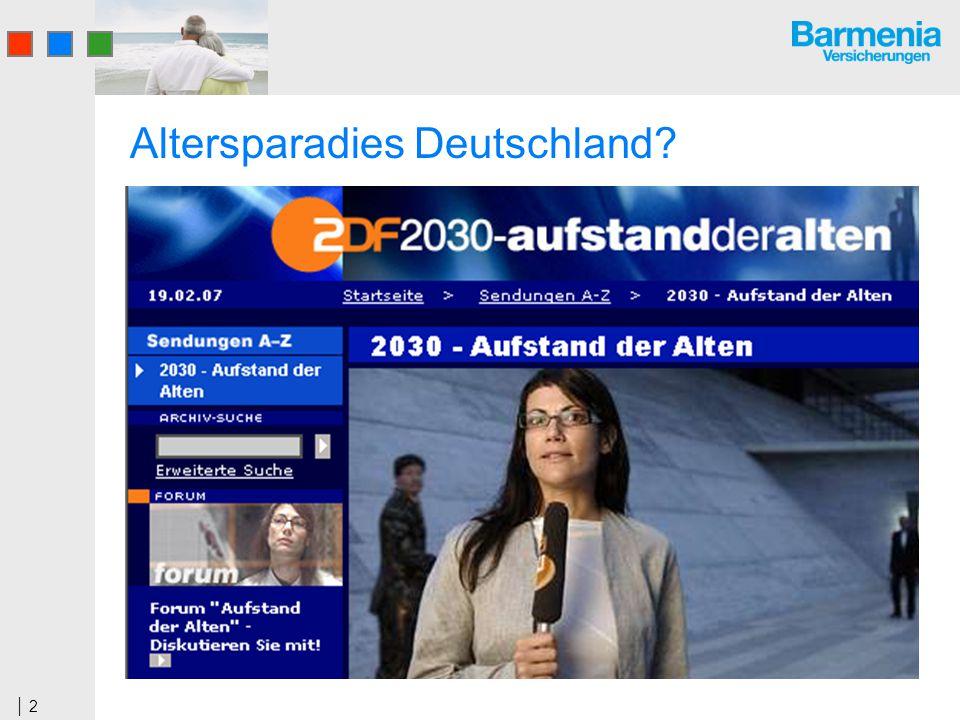 2 Altersparadies Deutschland?