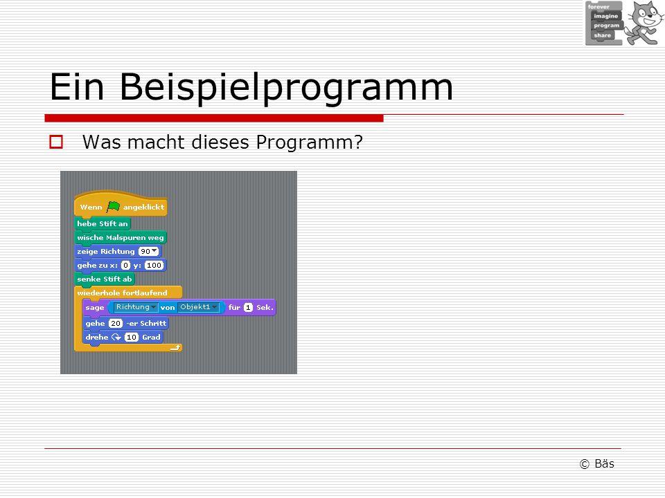 Ein Beispielprogramm Was macht dieses Programm? © Bäs
