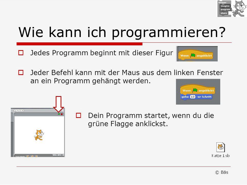 Wie kann ich programmieren.