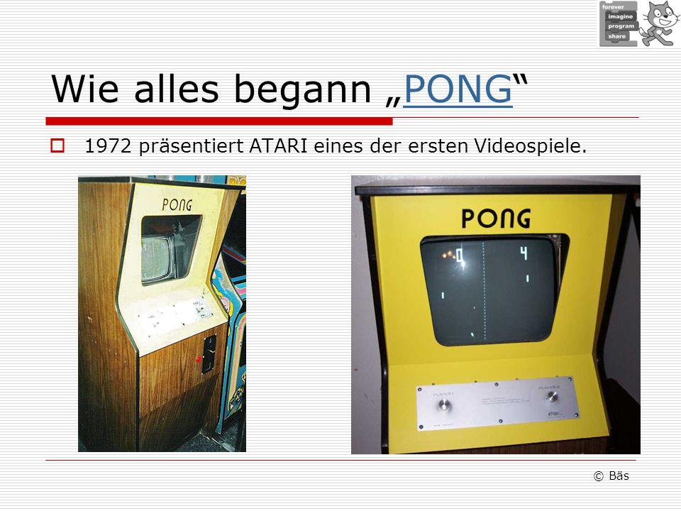 Wie alles begann PONGPONG 1972 präsentiert ATARI eines der ersten Videospiele. © Bäs
