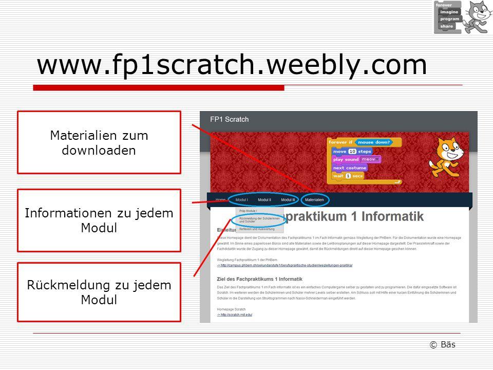 © Bäs Rückmeldung zu jedem Modul Informationen zu jedem Modul Materialien zum downloaden
