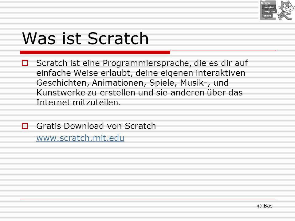 Was ist Scratch Scratch ist eine Programmiersprache, die es dir auf einfache Weise erlaubt, deine eigenen interaktiven Geschichten, Animationen, Spiele, Musik-, und Kunstwerke zu erstellen und sie anderen über das Internet mitzuteilen.