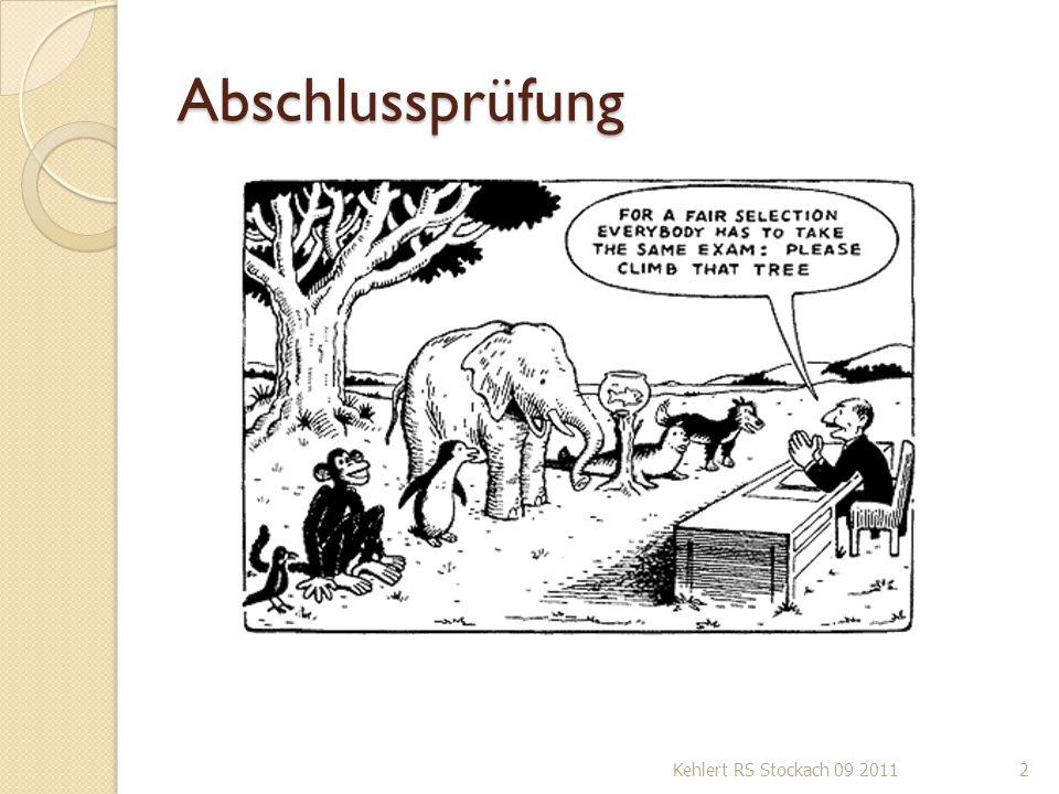 Abschlussprüfung Kehlert RS Stockach 09 20112