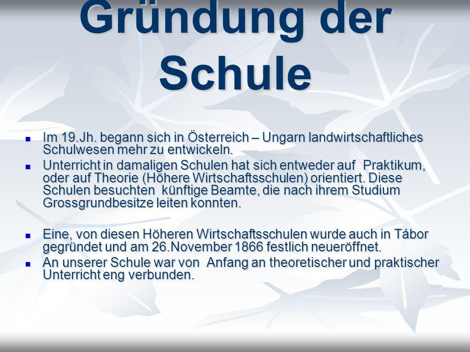 Es handelte sich um erste Schule solcher Art in Österreich, an der nur Tschechisch unterrichtet wurde.