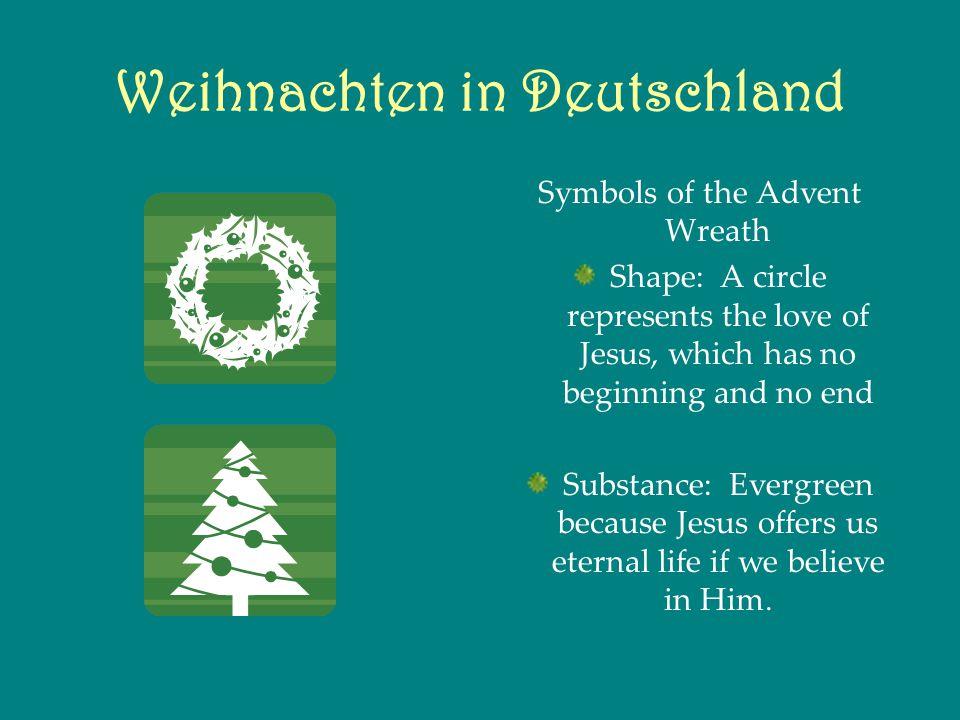 Weihnachten in Deutschland Candles: Jesus said, I am the light of the world.